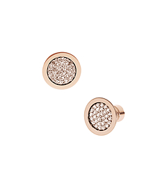 Pavé-Embellished Rose Gold-Tone Stud Earrings