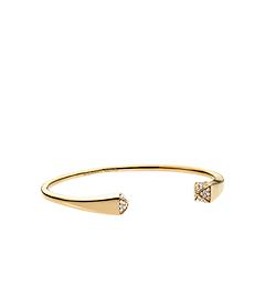 Pavé-Embellished Gold-Tone Pyramid Bracelet