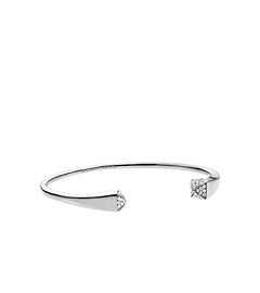 Pavé-Embellished Silver-Tone Pyramid Bracelet
