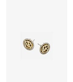Logo Gold-Tone Stud Earrings