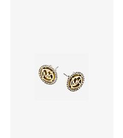 Logo Gold-Tone Stud Earrings by Michael Kors