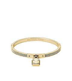 Pavé-Embellished PadLock Gold-Tone Bracelet