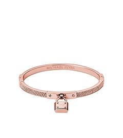 Pavé-Embellished PadLock Rose Gold-Tone Bracelet