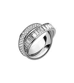 Pavé-Embellished Silver-Tone Eternity Ring