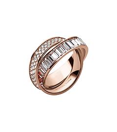Pavé-Embellished Rose Gold-Tone Eternity Ring