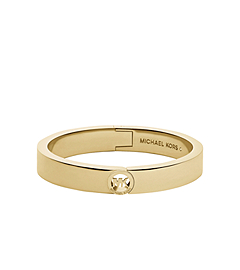 Astor Studded Gold-Tone Buckle Bangle