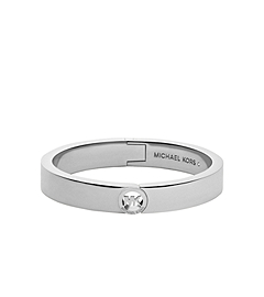 Fulton Silver-Tone Buckle Bangle