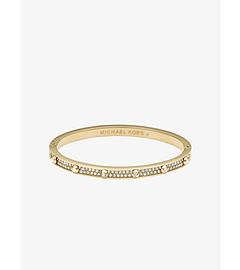 Pavé-Embellished Studded Gold-Tone Bracelet