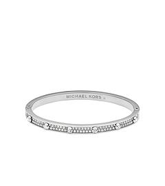 Pavé-Embellished Studded Silver-Tone Bracelet