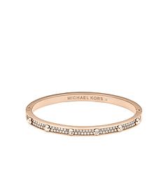Pavé-Embellished Studded Rose Gold-Tone Bracelet
