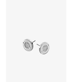 Pavé Silver-Tone Stud Earrings by Michael Kors