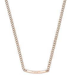 Pavé-Embellished Rose Gold-Tone Reversible Plaque Necklace