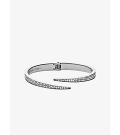 Matchstick Pavé-Embellished Silver-Tone Cuff