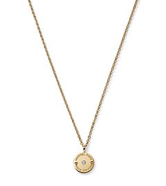 Stone-Embellished Gold-Tone Charm Necklace