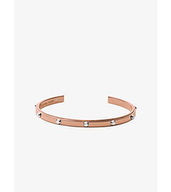 Astor Studded Rose Gold-Tone Cuff