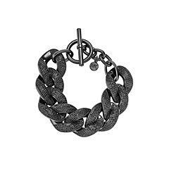 Black Chain-Link Toggle Bracelet