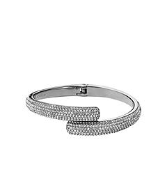 Pavé-Embellished Silver-Tone Hinge Bracelet