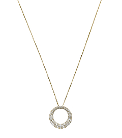 Pavé-Embellished Gold-Tone Pendant Necklace