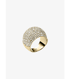Pavé-Embellished Gold-Tone Dome Ring