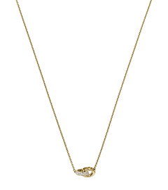 Pavé-Embellished Gold-Tone Link Charm Necklace