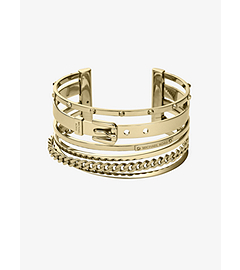 Frozen Bangle Gold-Tone Cuff