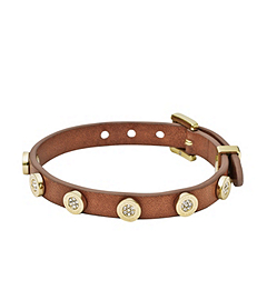 Pavé-Embellished Leather Buckle Bracelet