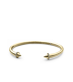 Pavé-Embellished Gold-Tone Arrow Open Cuff