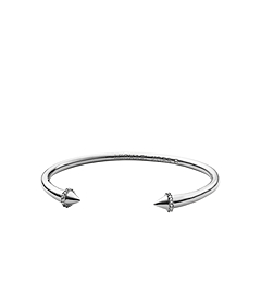 Arrow Pavé-Embellished Silver-Tone Cuff