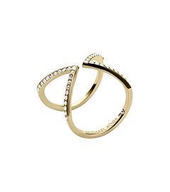 Pavé-Embellished Gold-Tone Ring