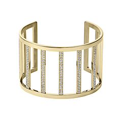 Pavé-Embellished Gold-Tone Cuff