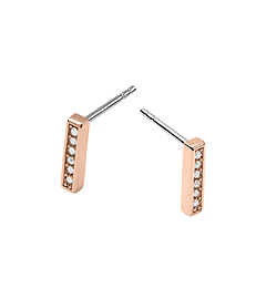 Pavé-Embellished Rose Gold-Tone Earrings