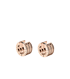 Pavé-Embellished Rose Gold-Tone Bar Earrings