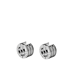 Pavé-Embellished Silver-Tone Bar Earrings