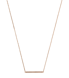 Pavé-Embellished Rose Gold-Tone Pendant Necklace