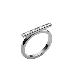 Pavé-Embellished Silver-Tone Ring