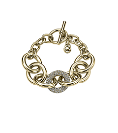 Pavé-Embellished Chain-Link Toggle Bracelet