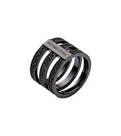 Pavé Black-Tone Ring by Michael Kors
