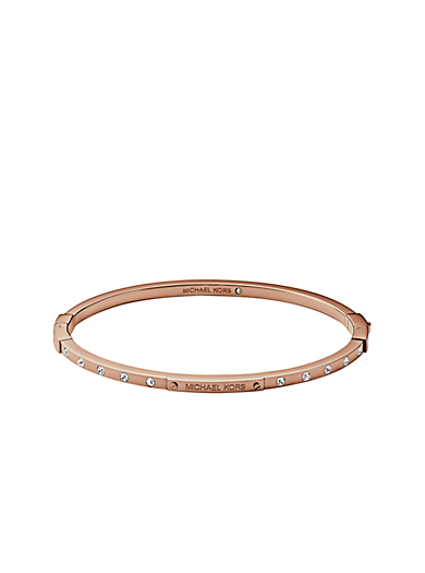 Pavé Rose Gold-Tone Bangle by Michael Kors
