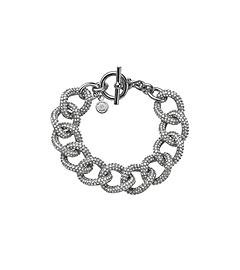 Pav 233 Silver Tone Chain Link Bracelet