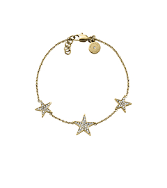 Pavé-Embellished Gold-Tone Star Bracelet