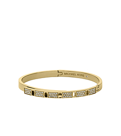 Pavé-Embellished Gold-Tone Bangle