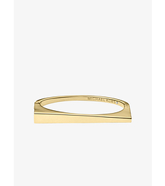 Asymmetrical Gold-Tone Bangle