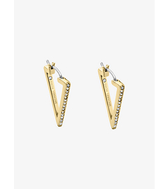 Pavé Gold-Tone Triangle Hoop Earrings by Michael Kors