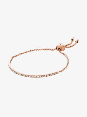 Pavé Rose Gold-Tone Bracelet by Michael Kors