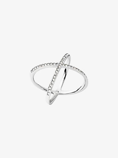 Pavé Silver-Tone Ring by Michael Kors