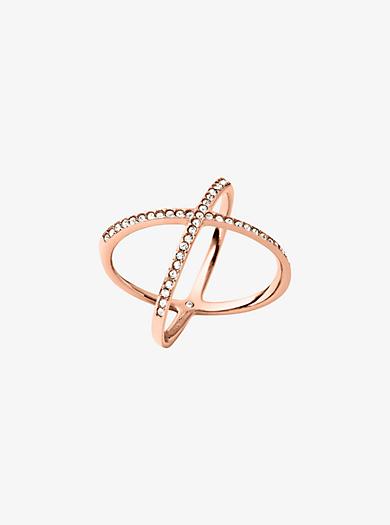 Pavé Rose Gold-Tone Ring by Michael Kors