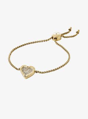 Heart Slider Gold-Tone Bracelet         by Michael Kors