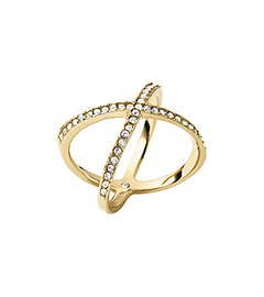 Pavé Gold-Tone Midi Ring by Michael Kors