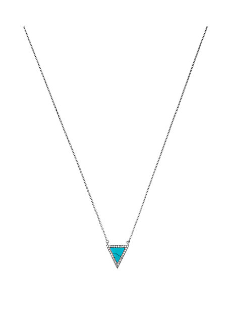 Pave Triangle Necklace