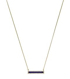 Lapis-Tone Pendant Gold-Tone Necklace    by Michael Kors